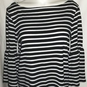 Banana Republic Striped Bell Sleeve Boat Neck NWT